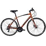Tommaso Forza Shimano Tourney Hybrid Disc Brake Fitness Bike, Orange - Extra Small