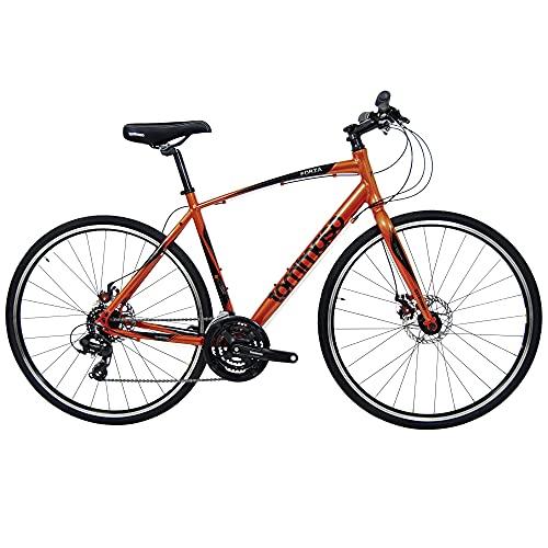 Tommaso Forza Orange Shimano Tourney Hybrid Fitness Bike