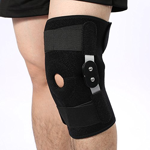 Knee Support, Adjustable Angle Knee Brace Wrap Support for Leg or Knee Injury, Sprained knee ligament and Sports(White)