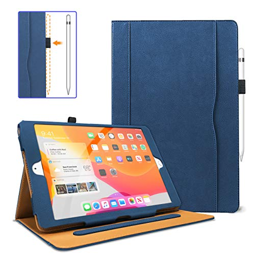 DANYCASE iPad 8th/7th Generation Case(10.2 Inch, Released in 2020/2019), PU-Leather Folio Smart Case Cover with Auto Sleep/Wake, Pencil Holder & Multiple Angles, for iPad 10.2 Inch 2020/2019 (Navy)