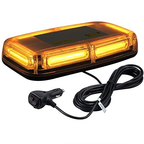 4 in 1 Lampada di Emergenza Strobo 18 Modalit/à con Interruttore 4X6 LED Barra Luminosa Impermeabile Luce Ambra con Supporto per 12V 24V Camion Autocarri Trattori Elevatori
