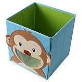 TE-Trend Caja Plegable Caja de Juego Motivo Animal Almacenamiento Juego Habitación Juego - Mono
