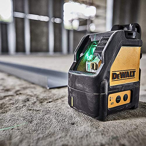"""Dewalt Kreuzlinienlaser DW088CG (Grüner Laser, Laserklasse 2, selbstnivellierenden, ¼"""" Stativaufnahme, 30 Stunden Laufzeit, IP54, ink. Batterien, Wandhalterung und Transportkoffer) - 3"""