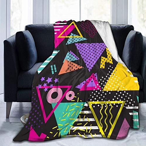 AEMAPE Überwurfdecke 80S Style Weiche Flanell-Warmdecke für Schlafsofastuhl Leichte Bettdecke, die ganze Saison