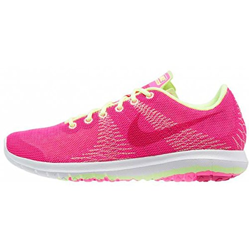 Nike Nike Girl 's Flex Element GS Schuhe, Mädchen, Flex Element GS, Pink/Lime/White