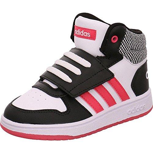 Adidas Hoops Mid 2.0 I, Zapatillas de Estar por casa Niños Bebé Unisex, Negro (Negbás/Rosrea/Ftwbla 000), 20 EU