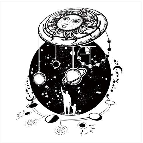 kldfig canvas schilderkunst kalligrafie moderne cartoon UFO zonnescherm poster en afdrukken muurkunstwerk schilderij voor woonkamer decoratie 60 * 60 cm zonder lijst