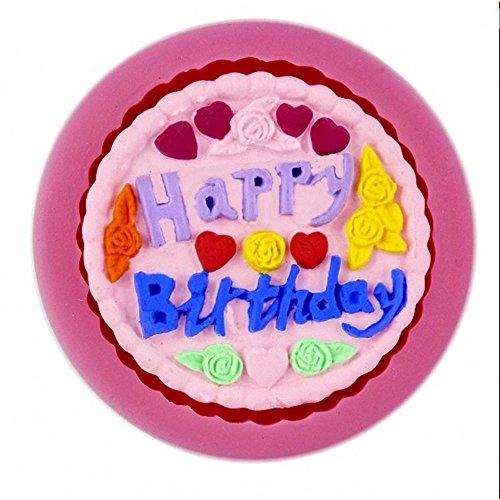 Siliconen mal voor voedsel gebruik van cake met schrijven - suikerpasta - fondants - cakes - pannenkoeken - muffins - decoraties happy birthday
