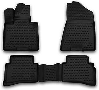 2015-2021 Hyundai Tucson / 2017-2021 Kia Sportage Floor Mats 2 Row Liner Set 3D Custom Fit (Black)