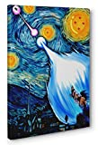 S-ANT Dragon Ball Z Starry Night Framed Canvas Print Poster Wall Art (Ready to Hang) (12x18in.)