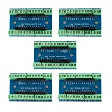5pcs DEVMO Nano Screw Terminal Adapter Shield Expansion Board Nano V3.0 AVR ATMEGA328P-AU Module Compatible with Ar-duino