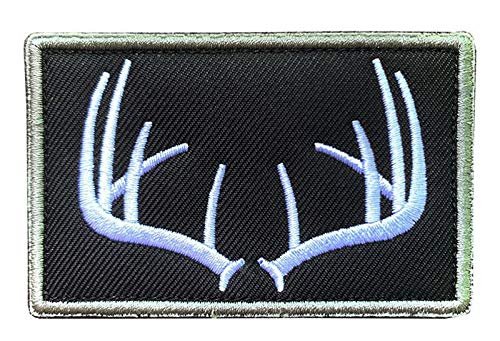 """Antrix Antlers Wildife Hunting Patch Hook and Loop Fastener Emblem Patch Embroidered Military Badge Emblem Patch -3.15""""x2"""""""