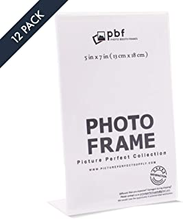 5x7 Picture Frames - Clear, Acrylic (Set of 12)