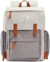Diaper Bag Backpack Frank Mully Large Multifunction Travel Baby Bag for Mom Dad Cream White