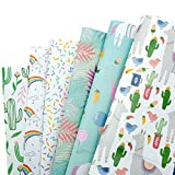 mooklin roam confezione da 6 carta da regalo per bambini uomini femminili regali, 6 fantasie for compleanno, anniversari, capodanno matrimoni e natale