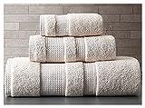 Cómodo y Duradero 1 unids 3 unids Color Puro 100% algodón Grande Gruesa Toalla de Toalla de baño baño Adulto Cuarto de baño Ducha Towel Home Hotel Toalla Multiusos