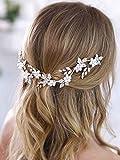 Aukmla Bridal Flower Crown Bridal Hair Vine...