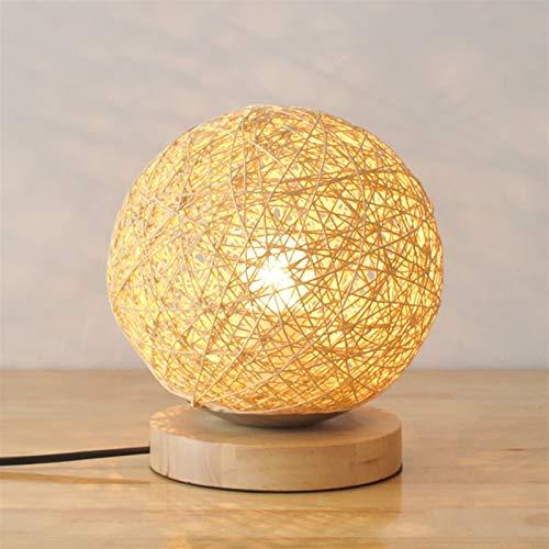 XINKONG Lámpara Lámpara de Cama de Dormitorio Minimalista Moderna Lámpara Creativa Lino pequeño Takraw Feed 20cmx30cm