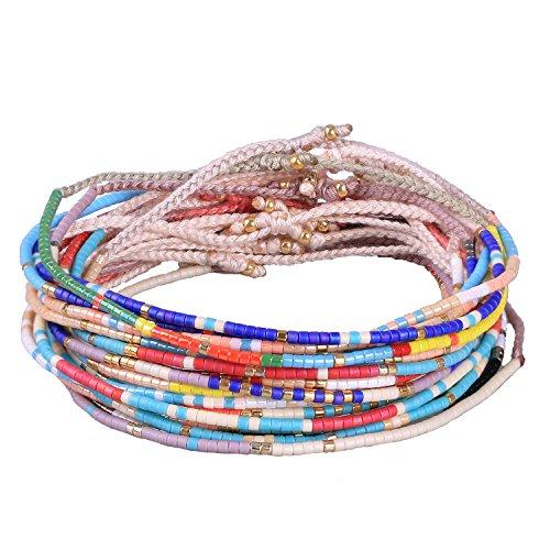 KELITCH Böhmen Quasten Freundschaft Armband Handgemachte Perlen Charme Armreifen Neue Schmuck 10 PCS (Farbe 3)