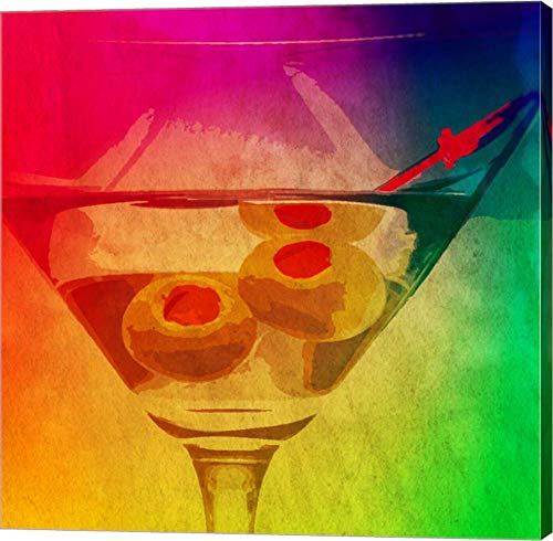 Dirty Rainbow by Graffitee Studios Canvas Art Wall Picture, Gallery Wrap, 12 x 12 inches