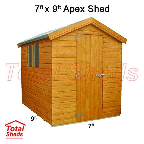 Total Sheds 9ft (2.7m) x 7ft (2.1m) Shed Apex Shed Garden Shed Timber Shed
