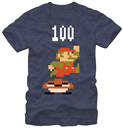 Nintendo Men's Plop T-Shirt, Navy Heather, Large
