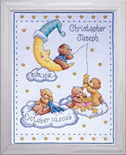 Tobin T21727 Bears in Clouds Birth Record Counted Cross Stitch Kit