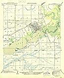 YellowMaps Lake Arthur LA topo map, 1:31680 Scale, 7.5 X 7.5 Minute, Historical, 1946, 20.8 x 16.9 in - Tyvek