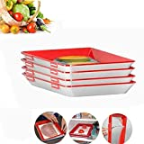 2020 Fresh Food New Idea - Creative Food Preservation Tray, Replaceable Plastic Food Preservation Tray, Zero Waste Food Preservation Tray, Lasting Freshness Vacuum Seal Food Storage Containers (4PCS)