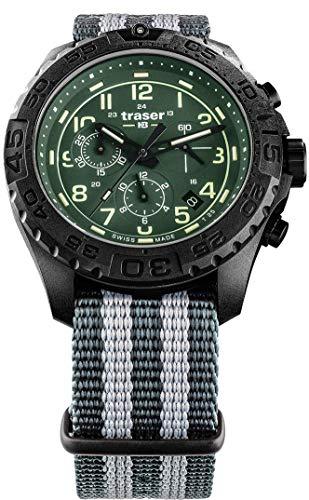 Traser H3 P96 Outdoor Pioneer Evolution Chrono Green Tactical Watch Militar Reloj de pulsera OTAN