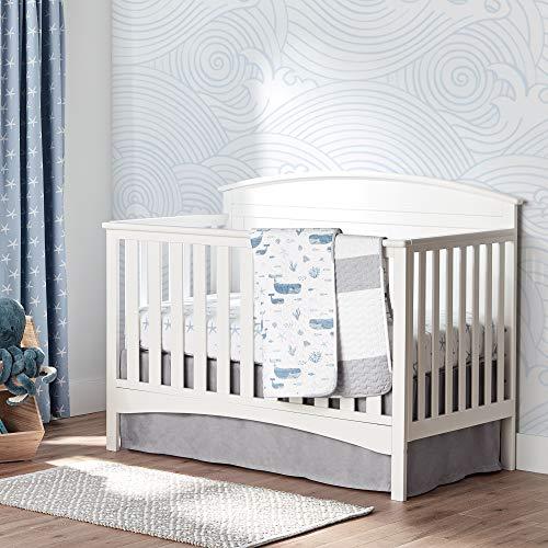 Lush Decor Baby Seaside Starfish Organic Cotton 2 Pack Fitted Crib Sheet, Blue