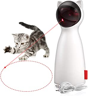 ZOTO Cat Laser Toy, Automatic Rotating Laser Pointer for Cats, USB/Battery Charging Operated Pet Training Exercise Chaser ...