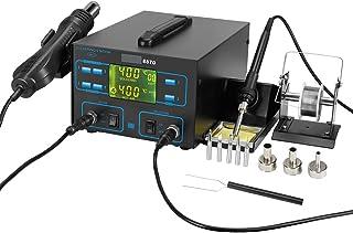 2-in-1 soldeerstation, TOPQSC 60W soldeerbout station Hot Air Rework LCD-scherm 100ºC- 480 °C Temperatuur Verstelbare Koe...