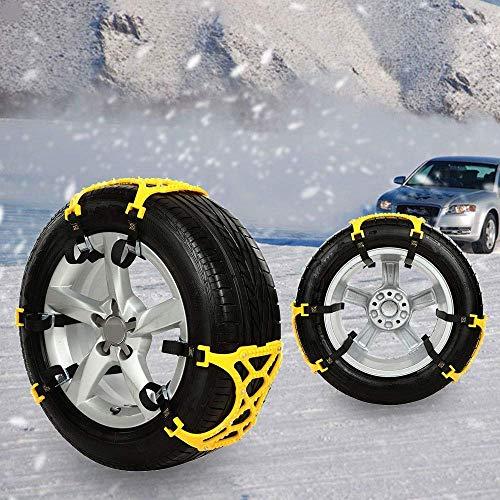 Anti-skid Snow Chains Car Profession 6pcs Set, Universal Thickened TPU Car Tire Emergency Anti Slip...