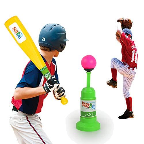 LOVEYue Juego De Juguetes De Bate De Béisbol Lanzador Automático De Entrenamiento Deportivo Al Aire Libre para Niños Divertidos, Juego De Regalo De Juguete Intelectual Niños