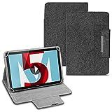 Tablet Tasche für Huawei MediaPad T1 T2 T3 T5 10.0 Zoll Hülle Cover Filz Hülle Schutzhülle Filztasche, Farben:Dunkel Grau