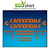 Ecoshirt M9-PP3I-MG02 Pegatinas Stickers Cuadro Frame Cannondale Scalpel Am26 Aufkleber Decals Adesivi Bike BTT MTB Cycle, Naranja