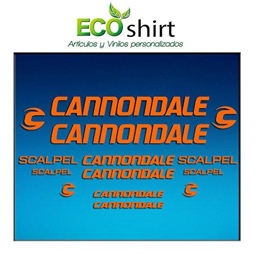 Ecoshirt M9-PP3I-MG02 Pegatinas Stickers Cuadro Frame Cannondale Scalpel Am26 Aufkleber Decals Adesivi Bike BTT MTB Cycle, Naranja