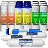 Recambios para filtros de agua iSpring RO - Suministro de 3 años con membrana 75GPD RO, modeloF22-75