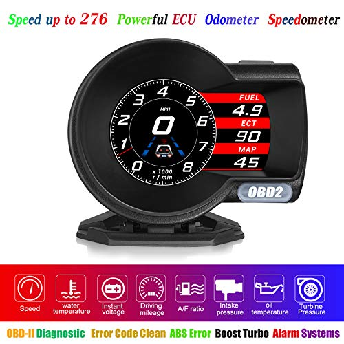 HUD Display Car OBD2, YUGUANG HUD OBD2 Gauge Heads-up Display HUD Speedometer 4