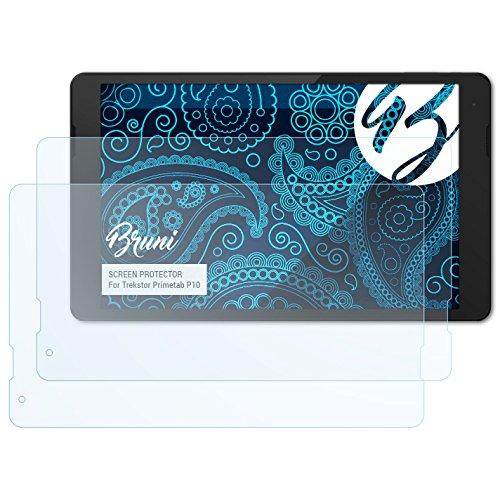 Bruni Schutzfolie kompatibel mit Trekstor Primetab P10 Folie, glasklare Bildschirmschutzfolie (2X)