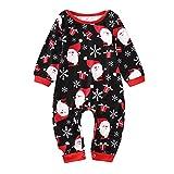 Pijama de Navidad para la familia, para la madre, el padre, los niños, niñas, invierno, pijama de Papá Noel, pantalones, muñeco de nieve, largo, ropa para el hogar, Bebé de color negro., 18-24 meses