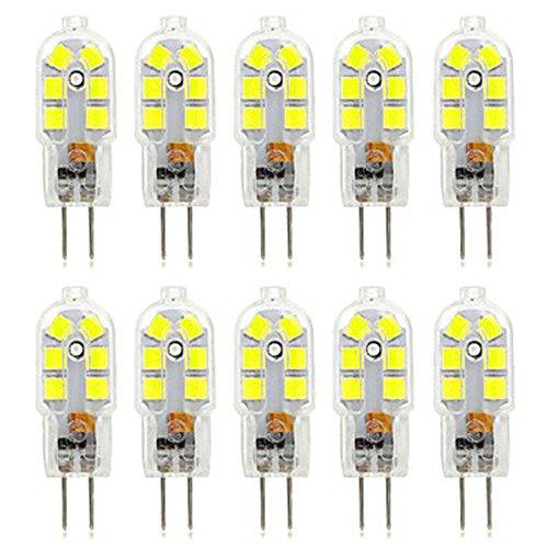 Gloeilampen LED lamp Bi-Pin Basis 12LED 3W (equivalent aan 30W halogeenlamp) LED maïslamp geldt voor kristallen lampen, keuken, restaurants, hotels, kunstgalerijen AC 220-240V (verpakking van 10 stuks)