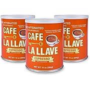 Café La Llave Decaf Espresso, 100% Pure Coffee, Dark Roast (3 x 10 ounce cans)