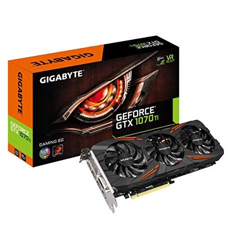 Gigabyte GeForce GTX 1070 Ti Gaming 8GB Video Graphics Card (GV-N107TGAMING-8GD) (Renewed)