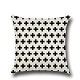 PPMP Funda de cojín Negra con Letras geométricas para sof�