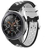 Songsier Compatibile con Cinturino Gear S3 Frontier/Galaxy Watch 3 45mm/ Galaxy Watch 46mm/Gear 2 /Huawei Watch GT2 46mm/Watch GT 46mm/Moto 360, Cinturino di Ricambio in Silicone da 22 mm
