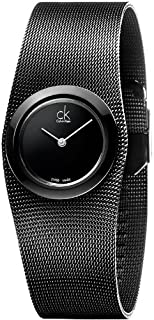 Calvin Klein Women's Black Dial Stainless Steel Band Watch - K3T23421