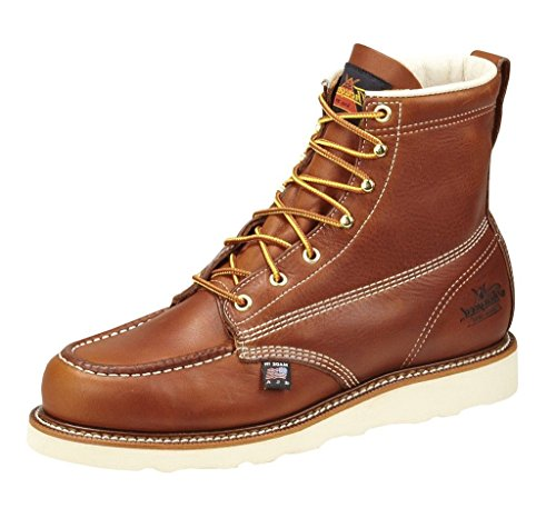Thorogood 814-4200 American Heritage 6″ Moc Toe Boot, Tobacco, 9.5 D US