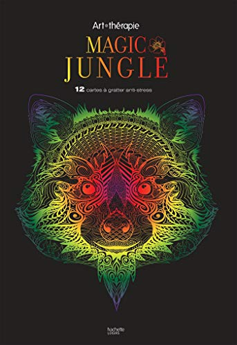 Cartes à gratter Magic Jungle: 12 cartes à gratter anti-stress (Art thérapie)